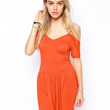 ASOS Playsuit with Cut Out Shoulder
