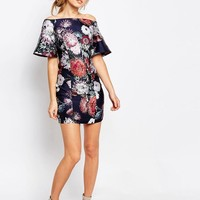 Keepsake | Keepsake Printed Off Shoulder Dress at ASOS