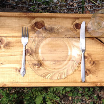 Rustic elegant wooden serving tray with handles, wedding gift, breakfast in bed