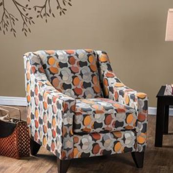 Marcellis Sloped Arm Accent Chair in Gray