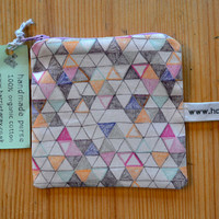 coin purse  handmade 100 organic cotton  geometric by harrietgray