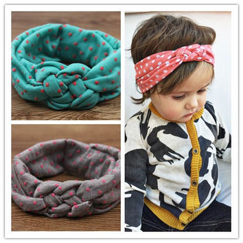 baby girls dot braided top knot twisted turban headband elastic for hair head bands wraps headbands accessories turbante wraps