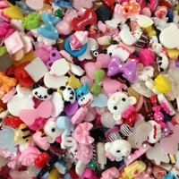 20pc Assorted Mini Size Bows, Panda, Cake, Chocolate, Monsters, Sundae, Cupcake, Teddy Bear, Floral, Donuts, Skulls, Candy & More Flat Back Resin Cabochons Nail ART Deco BONUS PEPPERLONELY Refrigerator Magnet:Amazon:Arts, Crafts & Sewing