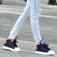 YESSTYLE: SO Central- Studded High-Top Sneakers
