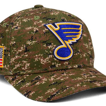St. Louis Blues adidas NHL Camo Structured Flex Cap | lids.com