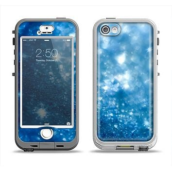 The Unfocused Blue Sparkle Apple iPhone 5-5s LifeProof Nuud Case Skin Set