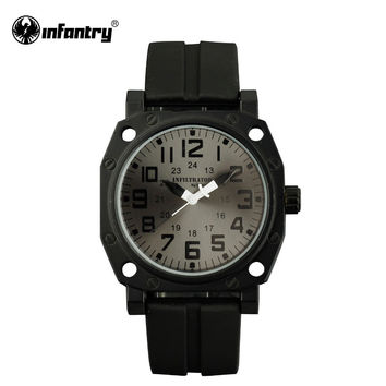 Mens Watches Quartz Marine Corps Clock Sports Rubber Straps Bracelet Casual Watches Boys Analog
