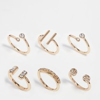 River Island Open Ring Multi Pack