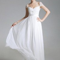Princess Sweetheart Ruched Chiffon Floor-length Dress at Dresseshop