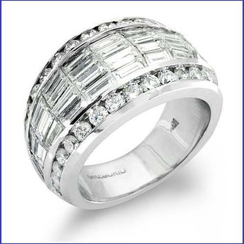 Gregorio 18K White Gold Diamond Wedding Band  R-172