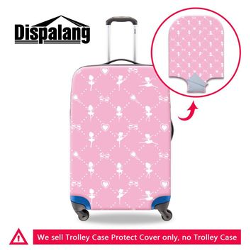 Cute Ballet Travel Luggage Protective Cover for 18-30 Inch Trolley Suitcase Pink Dancing Girls Elastic Waterproof Luggage Covers