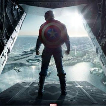 captain america poster Metal Sign Wall Art 8in x 12in