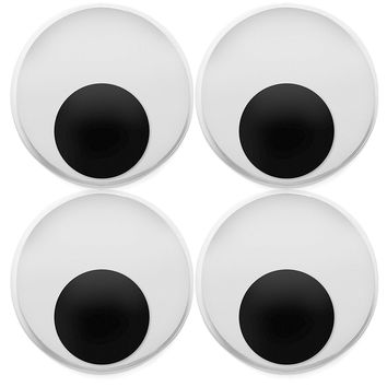 """Pack of 8 XL 4"""" Wiggly Googly Eyes"""