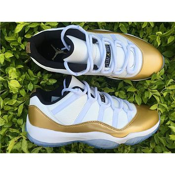 Nike Air Jordan Retro 11 Low Metallic Gold