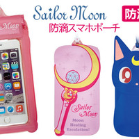 Strapya World : Sailor Moon Drip-Proof Pouch for Smartphone (Luna)