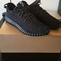 Indie Designs Kanye West Favorite Black Yeezy 350 boost