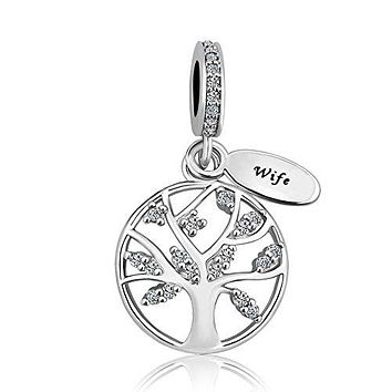 LovelyJewelry New Family Tree of Life Dangle Charm Bead For Bracelet Pendant