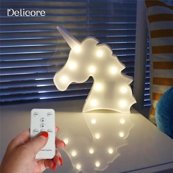 DELICORE Lovely Marquee Animal Night Light With Remote Control For Baby Room Decorative, remote control without electronic S151