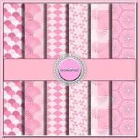 "SALE !! COMMERCIAL Use OK 6 Digital Pastel Pink Pattern Scrapbook Papers, 12""x12"" 300Dpi Instant Download"