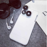 Three in one multi lens: Wide-angle , Macro,fisheye, Case Cover for Apple iPhone 5s 5 SE 6 6S 6 Plus 6S Plus LJ160829-002