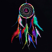 Multi-color Indian Feather Home Decor Cars Dream Catcher [9613385295]