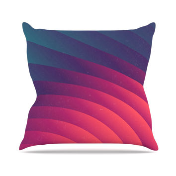 "Danny Ivan ""Reservoir Lines"" Pink Geometric Throw Pillow"