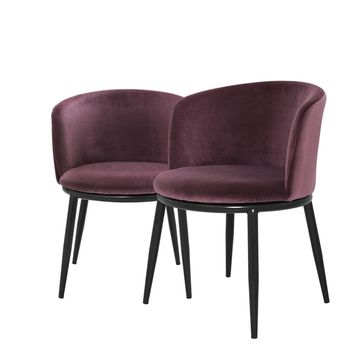 Mid-Century Purple Dining Chair | Eichholtz Filmore (2)