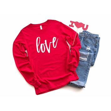 Love Long Sleeve Graphic Tee