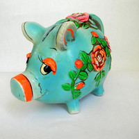 1968 Piggy Bank Holiday Fair by Mylittlethriftstore on Etsy
