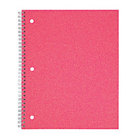Office Depot Brand Fashion Notebook 8 x 10 12 1 Subject Wide Ruled 160 Pages 80 Sheets Glitter Pink by Office Depot