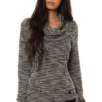 The Inject Shawl Sweater in Black