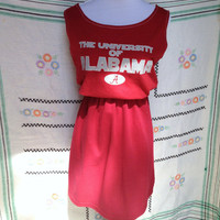University of Alabama Bama Crimson Tide Game Day T Shirt Tee Dress