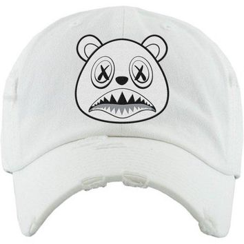 Ghost Baws White Dad Hat