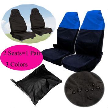 Nylon Car Seat Cover Waterproof Protector For Universal Car 2 Pieces