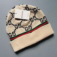 GUCCI Winter Fashion Women Men Cute Warm Knit Hat Cap