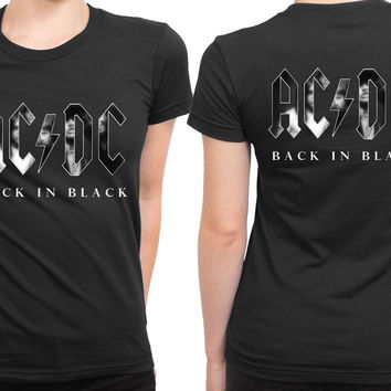 ACDC Title 2 Sided Womens T Shirt