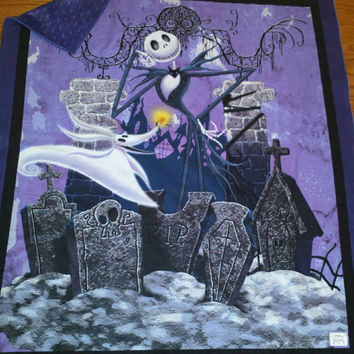 Baby Crib Blanket Jack Skellington Nightmare Before ChristmaS  SnuGGLy SoFT Minky & Cotton ReaDy to SHiP! Designs by Sugarbear Nursery Gift