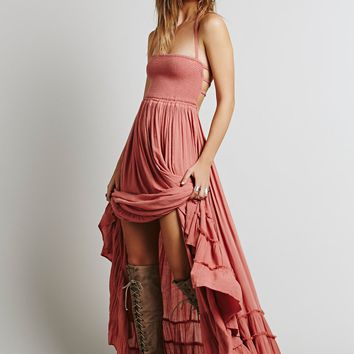 sexy Long backless cotton party beach dress