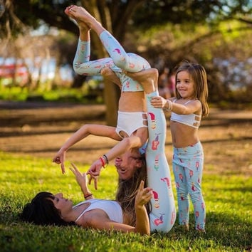 Mommy and Me Mermaid Yoga Pants