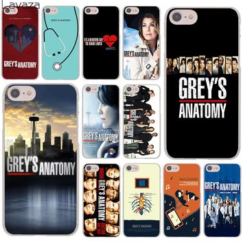 Lavaza grey's Grey is Anatomy logo Season Hard Cover Case for Apple iPhone 8 7 6 6S Plus 5 5S SE 5C 4 4S X 10 Coque Shell