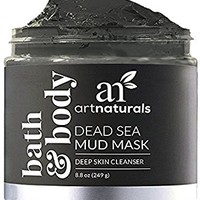 ArtNaturals Dead Sea Mud Mask - (8.8 Oz/250g) - for Face, Body & Hair - 100% Natural Deep Skin Cleanser - Clears Blemishes, Reduces Pores & Wrinkles - Spa Quality - Mineral Infused Additive Free