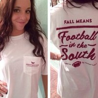 """""""Football In The South"""" tee 