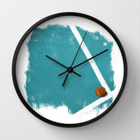 Tennis Wall Clock by Matt Irving
