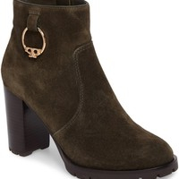 Tory Burch Sofia Lugged Logo Charm Bootie (Women) | Nordstrom