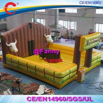 lowprice mechanical bull inflatable bull riding machine,bullfighting giant inflatable mechanical bull,inflatable rodeo bull ride
