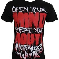 Motionless In White Open Your Mind Men's Black T-Shirt - Buy Online at Grindstore.com