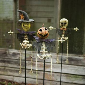 Set Of 3 Halloween Yard Stakes
