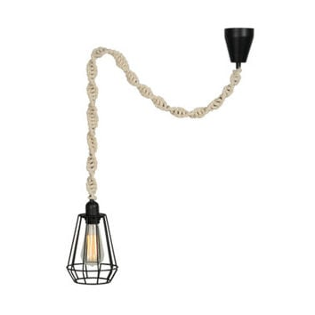 NOOCHi+CO Caged Macrame Pendant Light