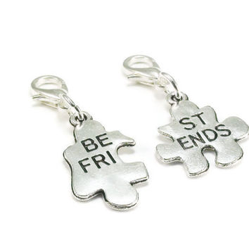 Best Friend Charms, Purse Charm, Clip on Charm, Clip Charm Set
