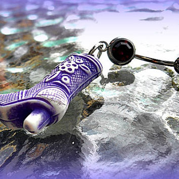 Purple Cowboy Boot Belly Ring,  Cowgirl, Country Western Belly Ring, Bohemian, Hipster, Hippie, Beach, Summer Ready to Ship